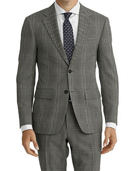 Grey Plaid Suit:Z4-4071919  Shirt:N6-4071976