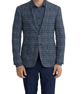 Cerruti Oxygen Blue Navy Brown Plaid Jacket:XI-4393543  Lining:L4-4072784  Trouser:C3-4394928  Shirt:N5-4394541