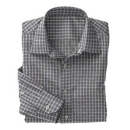 Grey White Check Shirt:N3-3858228