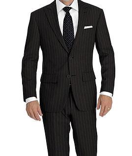 Grey Rope Stripe Suit:Y4-4292935  Shirt:N5-4071883