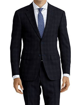 Navy Blue Check Suit:Z4-4071914  Shirt:N6-4072000