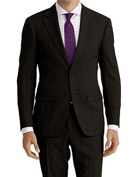 Charcoal Violet Stripe Suit:Z4-4071928  Shirt:N6-4071986