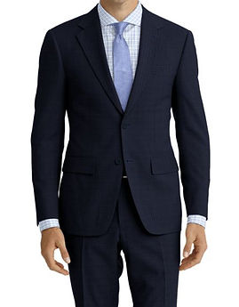 Navy Houndstooth Suit:Z4-4071920  Shirt:N6-4071996