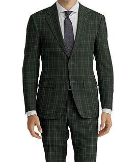 Green Navy Plaid Suit:C9-4072370   Shirt:N4-3862528