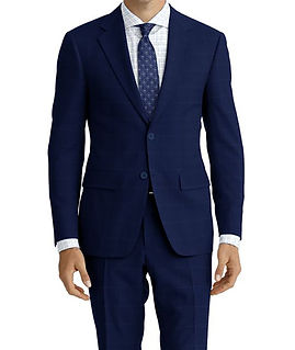 Royal Lt Blue Windowpane Suit:E3-4183637  Shirt:N6-4071985