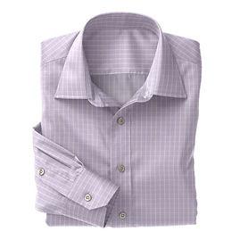 Norwich Violet White Check Shirt:N3-3340085