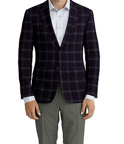Dormeuil Echo Midnight Forest Check Sportcoat:Y6-4073468  Lining:L4-4072797  Trouser:K1-3336839  Shirt:N6-4071977