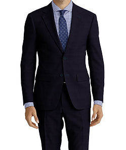 Dormeuil Travel Resistant Blue Micro Check Suit:Y4-4185309  Lining:L6-4072648  Shirt:N6-4072014