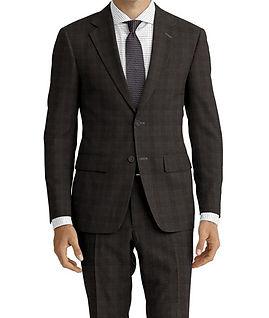 Drago Vantage Charcoal Plaid Suit:Z2-4071506  Lining:L6-4072645  Shirt:N6-4071976
