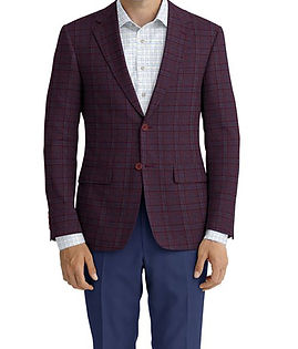 Berry Blue Plaid Jacket:Z2-3961927  Trouser:C8-3644100  Shirt:N6-4071985
