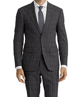 Grey Charcoal Check Suit:C9-4072380  Shirt:N6-4071976