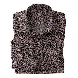 Black Pink Paisley Shirt:N5-4293136