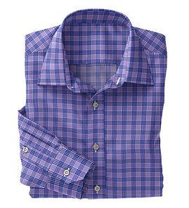 Lavender Blue Check Shirt:N5-4074728