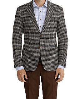 Cerruti Oxygen Tan Brown Navy Houndstooth Jacket:XI-4393555  Lining:L4-4072752  Trouser:C3-4394942  Shirt:N6-4072086
