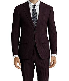 Dormeuil Amadeus Action Black Jacquard Stripe Suit:Y4-4185270  Lining:L4-4072759  Shirt:N6-4071976
