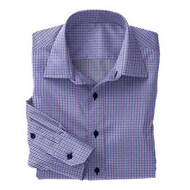 Violet/Navy Tattersall Shirt:N2-3754112