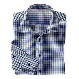 Blue/Navy Club Tattersall Shirt:N2-3754118