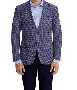 Dormeuil Calypso Blue Midnight Check Jacket:Y6-4073633  Lining:L4-4072767  Trouser:Y1-4293030  Shirt:N6-4072052