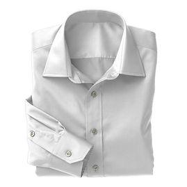 White on White Herrringbone Shirt:N3-3340129