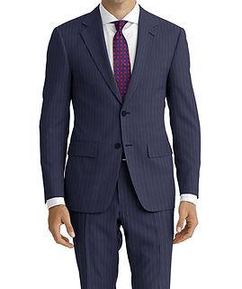 Drago Vantage British Navy Chalk Stripe Suit:Z2-4071524  Lining:L6-4072660  Shirt:N5-4071883