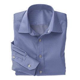 Blue Gingham Check Shirt:N3-3340101