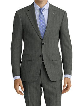 Lt Grey Lt Blue Stripe Suit:Z4-4071927  Shirt:N6-4071991
