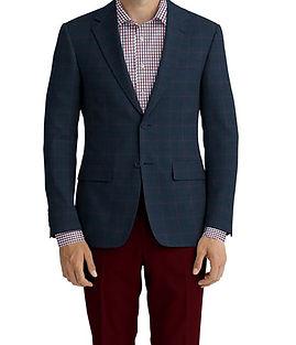 Navy Red Check Jacket:K4-4393620  Lining:L4-4072752  Trouser:Z2-4186921  Shirt:N6-4072034
