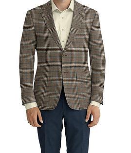 Cerruti Oxygen Tan Brown Teal Plaid Jacket:Z9-4393536  Lining:L4-3540670  Trouser:C3-4394931  Shirt:N5-4071840