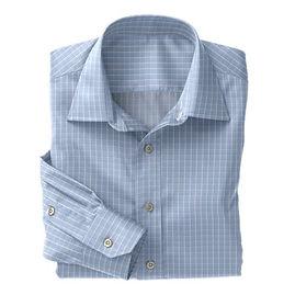 Norwich Sky Blue White Check Shirt:N3-3340083