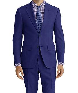 Dormeuil Amadeus Action Blue Plain Weave Suit:Y4-4185276  Lining:L6-4072648  Shirt:N7-4072129