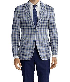 Lt Grey Blue Check Jacket:K4-4073367  Trouser:C9-4072427  Shirt:N5-3753269