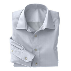 Blue Muted Herringbone Shirt:N3-3340149