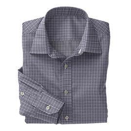 Soktas Navy White Check Poplin Shirt:S2-3540908
