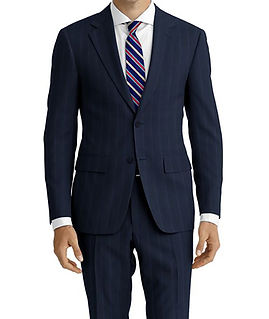 Drago Vantage Navy Blue Wide Broken Stripe Suit:Z2-4071516  Lining:L4-3858913  Shirt:N5-4071883pic8.jpg