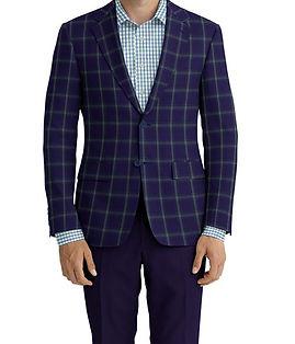 Navy Green Check Jacket:C6-4074225 Trouser:C6-4183864  Shirt:N6-4072026