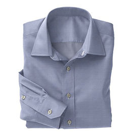 Blue Herringbone Shirt:N3-3858311