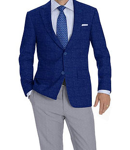 Ocean Blue Solid Jacket:K4-3874325 Trouser:C8-3644152  Shirt:N6-4071991
