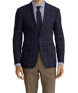 Dormeuil Woodland Grey Blue Tan Window Jacket:Y6-4185341  Lining:L4-4072795  Trouser:Y1-4293023  Shirt:N7-4072147