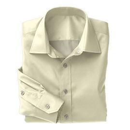 Creme Herringbone Shirt:N3-3340142