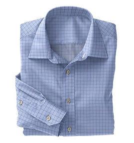 Navy Blue Graph Check Shirt:N5-4074733
