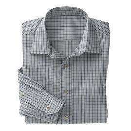 Grey Navy Check Shirt:N3-3858211