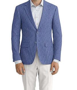 Blue Chalk Stripe Linen Jacket:K4-3861634  Trouser:C6-3644053  Shirt:N6-4071977