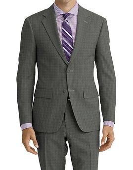 Lt Grey Sharkskin Suit:Z4-4071938  Shirt:N5-4071806