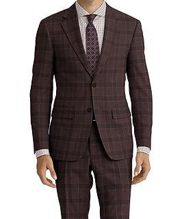 Brown Blue Check Suit:C9-4072378  Shirt:N7-4072116