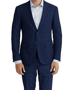 Blue Ivory Windowpane Jacket:Z3-3962273  Lining:L4-4072720  Trouser:Z3-3962245  Shirt:N6-4071978