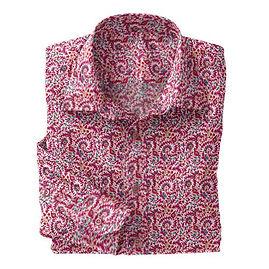 Pink Floral Stretch Shirt:N7-4073152