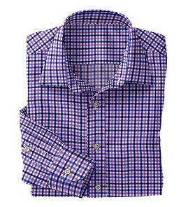 Lavender Blue Check Shirt:N5-4074731