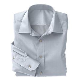 Blue Twill Solid Shirt:N3-3340157