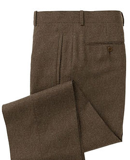 Brown Solid Trouser:Z3-3962094
