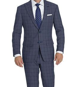Dormeuil Amadeus 365 Grey Blue Check Suit:Y4-4292908  Lining:L4-3858915  Shirt